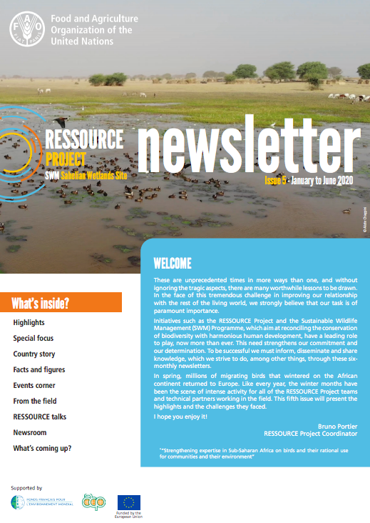RESSOURCE Project (SWM Sahelians Wetlands) Newsletter - issue 4