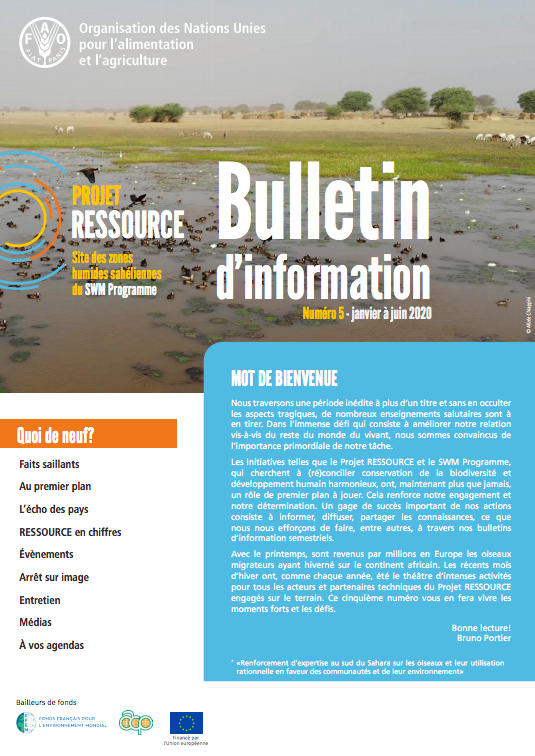 RESSOURCE Project (SWM Sahelians Wetlands) Newsletter
